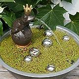 Miniteich Komplett mit Wasserspeier Frosch auf Kugel