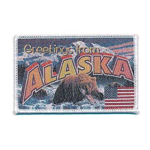 Preisvergleich Produktbild 72 x 45 mm Alaska Retro Nostalgie Patch USA Edel Aufnäher Aufbügler 0735 A