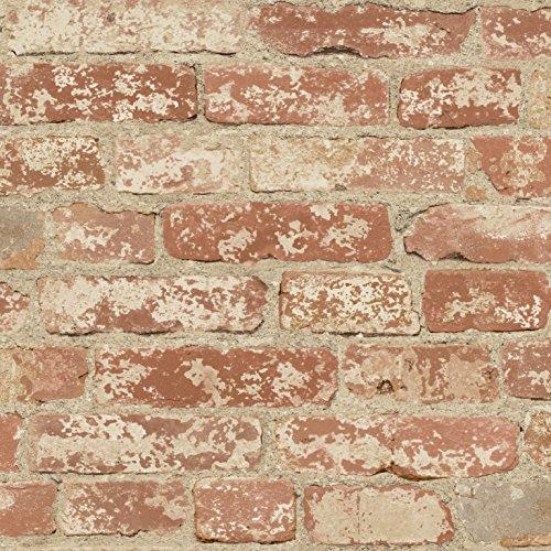 Peel&Stick PEEL & STICK Raumdekor - Backstein rot Wandtattoo, PVC, bunt, 53 x 8 x 8 cm
