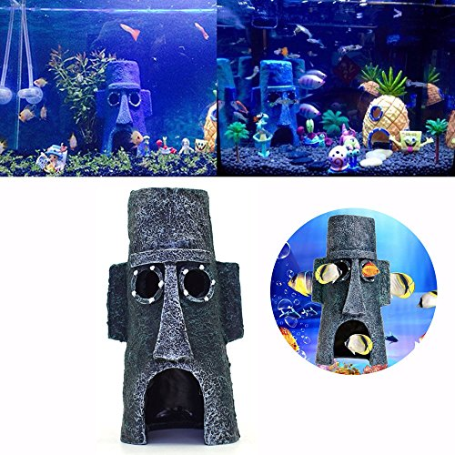 chaftsbau Harz House Dekorationen Funny Simulation Poly Fisch Tank Decor Ornaments Dekoration Fisch Garnelen Sucher Hippie Shelter House Unterwasser Verstecken Cave (Jason Halloween-musik)