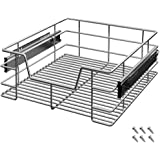 Deuba Cajón telescópico bandeja de metal extraíble 50cm organizador interior almacenaje para cocina baño armario taller