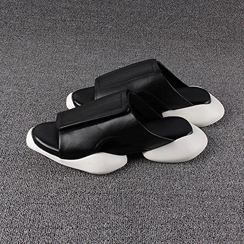 Uomini Di Panno Spessore Freddo Degli Pistoni Coppie Casuali Coreano Estivi Pelle Inferiori Sandali In tq7Zw6E