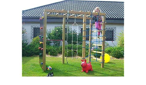 Klettergerüst Cleverclimber Club Xxl : Holzland greve multispielanlage xxl 240x120x210 cm kd grün: amazon