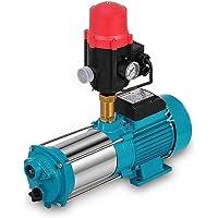 Kreiselpumpe Gartenpumpe 1300W 6000L/h 9.8 Bar Hauswasserpumpe mit Schaltautomatik Hauswasserwerk Wasserpumpe