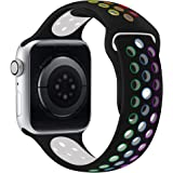 Compatible for Apple Watch Band 30mm 40mm 41mm, Soft Silicone Sport Band Replacement Wrist Strap for iWatch Series 7/6/5/4/3/