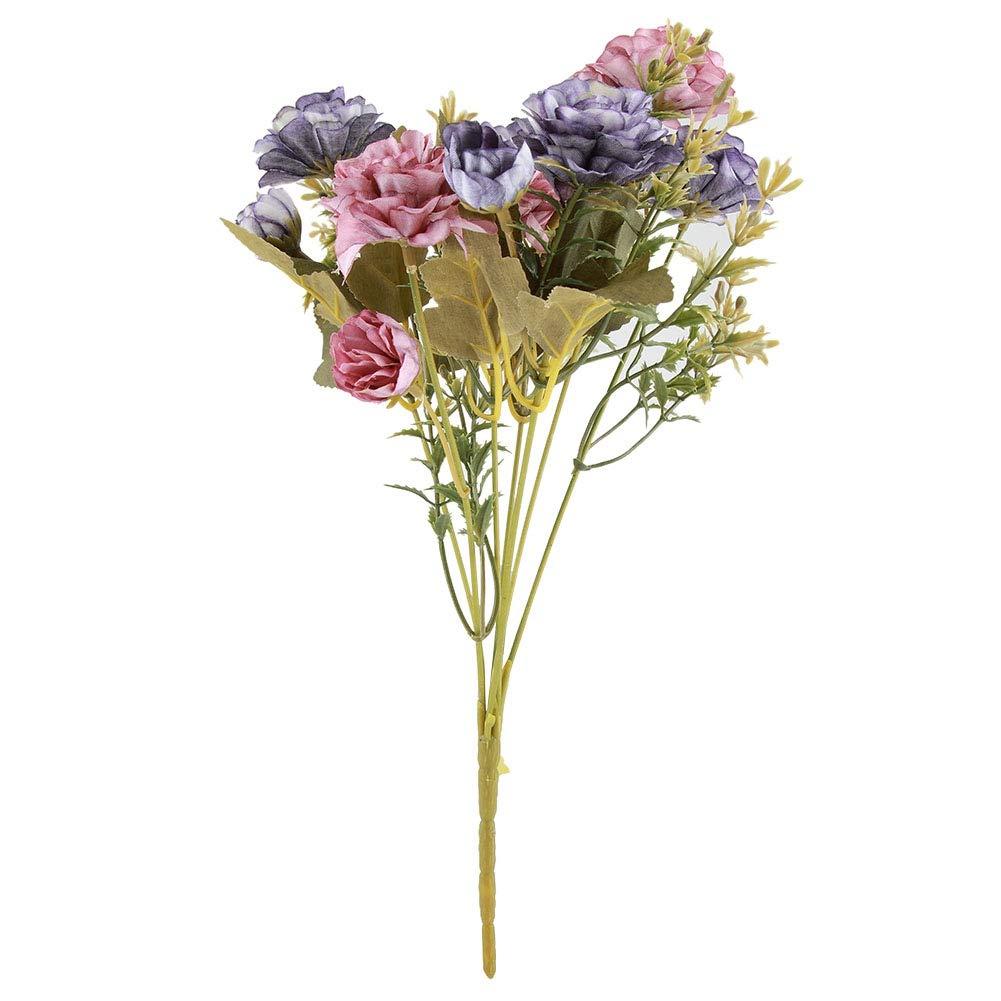 Ramo de flores artificiales de camelia, ramo de flores artificiales para exteriores, decoración de casa, jardín, boda