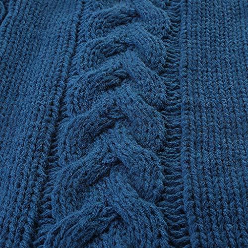 Imagen para Wrwgl Cochecito de bebé Cubierta de pie Universal-Transpirable-a Prueba de Viento-bebé Saco de Dormir-algodón de Punto-bebé Invierno Saco de Dormir-diseño Unisex con Capucha,Azul