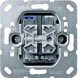Gira 014500 Interrupteur Module d'interrupteur avec lampe de contrôle 10 A 250 V~ avec 2 LED oranges 230 V Interrupteur double allumage