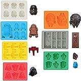 Sunerly IJsblokjesvormen / siliconen vormen in de vorm van Star-Wars-karakters, ideaal voor chocolade, ijsblokjes, wiebelpudd