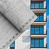 Sichtschutz Balkonsichtschutz Grau 90cm Balkonverkleidung Windschutz Balkon Sichtblende