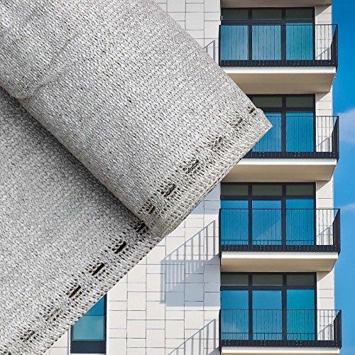 Sichtschutz Balkonsichtschutz Grau 75cm Balkonverkleidung Windschutz Balkon Sichtblende (Sichtblende)