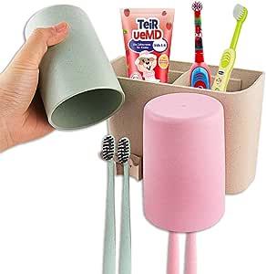Adhseive Zahnb/ürstenhalter automatische Zahnpastaspender Kit Zahnpasta Presse Organizer f/ür Badezimmer