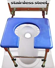 Viva Healthcare Wall Mounted Commode Chair With Adjustable Height (Capacity: 120Kgs)