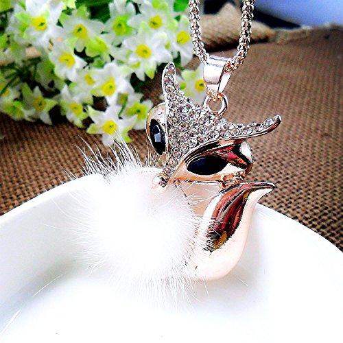 manchester-case-golden-corn-chain-link-rhinestones-studded-little-fox-pendant-necklace-for-women1pcs