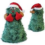 [lux.pro] Albero di Natale che canta e balla 27cm Ø11cm Decorazione natalizia Personaggio natalizio