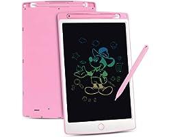 Upgrow LCD Writing Tablet, 10 Zoll LCD-Schreibtafeln mit Bunter Schrift, Grafiktabletts Schreibplatte Digital Schreibtafel Pa