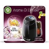 Air Wick Aroma-Öl Diffuser – Starter Set mit Diffuser und Duft-Flakon – Batteriebetrieben – Duft: Sommervergnügen – 1 x 20 ml ätherisches Öl + Diffuser in schwarz