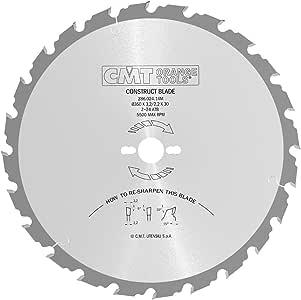 CMT 286.020.12M Lama Circolare con Limitatore per lEdilizia Metallo//Grigio