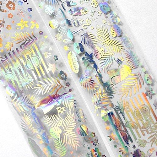 Sticker Nail Art Foil Aufkleber Nageldesign SOMESUN DIY Maniküre Laser Bewirken (7#)