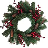 SAILUN® PVC Ø50cm Weihnachten kränze Weihnachtsdeko Türkranz Kranz Dekokranz Weihnachten garland (B Type)