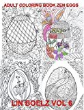 Adult Coloring Book Zen Eggs