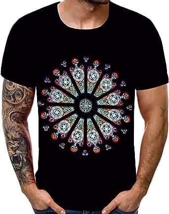 Homme Fashion Slim Fit Fermeture Éclair Été Tops à manches courtes Casual T-shirts en coton neuf