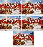 : Alpen Light Cherry Bakewell Bars 145g, - Pack of 5, 5 Bars Each