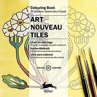Art Nouveau Tiles: Colouring Card Book: colouring book