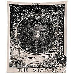 "'aidm onrr Retro tapiz, tapiz Tarot, medieval liche Europa divination tapiz, diseño de pared misteriosa Alfombras, sol & Luna & Estrella, 51""pulgadas × 59pulgadas,"