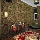 Kuamai 3D-Pvc Imitation Von Ägypten Hintergrundbild Stereoskopische Exfoliator Geprägte Abwaschbaren Tapeten Für Wände Wohnzimmer Hintergrund 10m x 0.53m