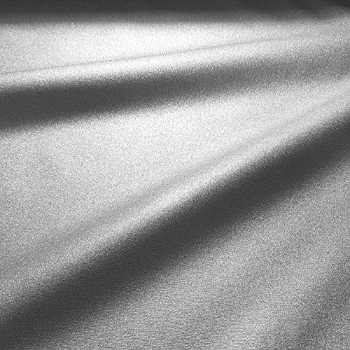 Werthers Stoffe Stoff Meterware Baumwolle Silber beschichtet Tischdecke Glitzer glänzend Metall abwaschbar