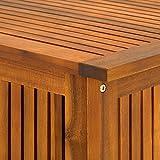 Deuba Auflagenbox | 117cm Akazien Holz Innenplane vorgeölt | Holztruhe Kissenbox Gartenbox Gartentruhe Truhe Kissen Box - 6