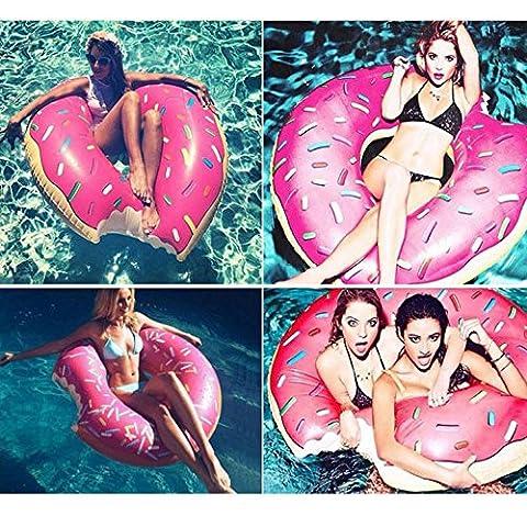 Aufblasbarer Schwimmring riesen Spaß Biss Form Donut Schwimmbad Wasser floß