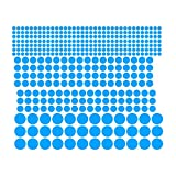 Minzhi Hintergrund-Tapete Mural Tattoo-Wand-Aufkleber Abziehbilder Blue Dot leuchtender Aufkleber Bett Wohnzimmer Dekor