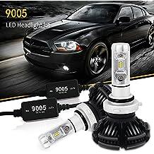 AUSI 2x 9005 / HB3 6000LM 3000K 6500K 8000K bombilla LED Con decodificador de luz Hi/ Lo Dual beam LED HeadLight PHI-ZES LED CHIP para el coche / Van / Camión / vehículo Car Auto Llevado conduciendo la Luz de Niebla NO CANBUS