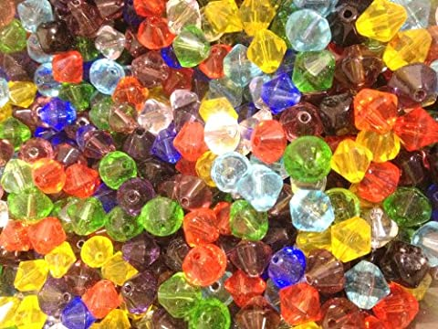 200 pieces 4mm Crystal Glass Bicone Beads Mixed Colour by Stylish and Stunning Ltd