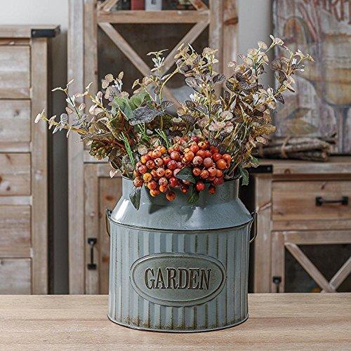 Starter Vintage Ländlichen Stil Eisen Griff Blume Garten Schäbig Vase Topf Sukkulenten Eimer Pflanzer Decor Blumentopf