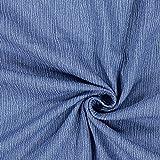 Fabulous Fabrics Crinkel Jeansstoff – hellblau — Meterware ab 0,5m — zum Nähen von Blusen und Hemden, Kleidern und Kinderbekleidung