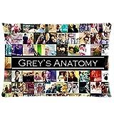 Custom Kissenbezüge TV Show Grey s Anatomy Fans Überwurf Kissen Case Kissen Cover Beste Geschenk 50,8x 76,2cm 2S