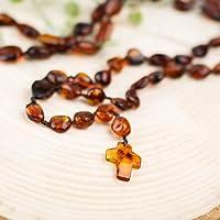 Natural Baltic amber rosary   Beautiful, handmade amber rosary from bean shaped amber beads   Natural baltic amber...