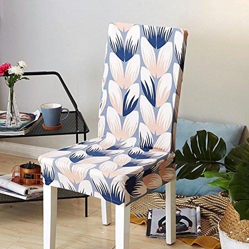 Freedom Style Floral Gedruckt Universal Spandex Stretch Kurze Abnehmbare Elastische Tuch Stuhl Abdeckungen Bankett Stil Stuhlhussen Color 18 universal Sizes (Hochzeit Stuhl Deckt)