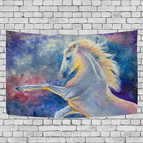 jstel Pferd Malerei Aquarell Wandteppich für Dekoration für Wohnung Home Decor Wohnzimmer Tisch...
