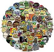 ملصقات Baby Yoda ملصقات The Mandalorian Star Wars ملصقات 100 عبوة ملصقات لزجاجات المياه المائية والزجاجات المح