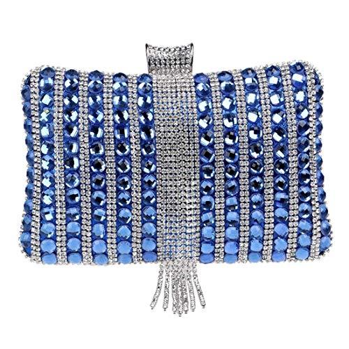 Voll Perlen Handtasche (Aonywb Abendtaschen Voll Perlen Kunstperlen Handtasche für Hochzeit Prom Tasche)