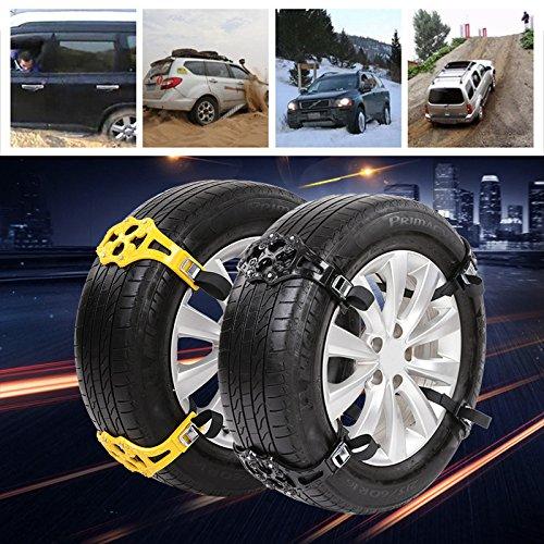Sedeta-auto-Vehicle-Truck-Off-Road-Safety-Rotella-della-gomma-antiscivolo-Cintura-a-catena-da-neve-Nero-giallo-vendita-calda-per-veicoli
