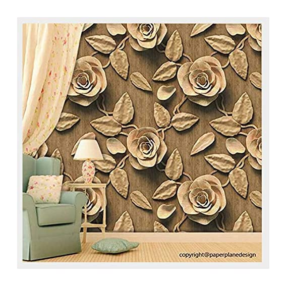 Paper Plane Design Wallpaper Self Adhesive Wall Sticker Matte Water Proof (10 Square FEET(16 INCH X 90 INCH X 1 ROLL))