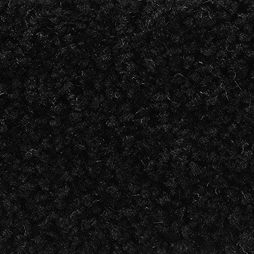 Teppichboden Auslegware | Hochflor Langflor | 400 und 500 cm Breite | schwarz | Meterware, verschiedene Größen | Größe: 1 Muster