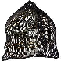 Ram Rugby bola de malla de bolsa–sostiene 3tamaño 5bolas–negro