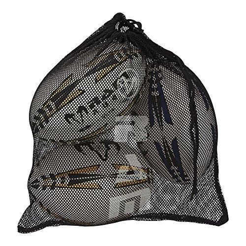 RAM Rugby Sac Boule en maille–Peut contenir 3balles de taille 5–Noir Ram