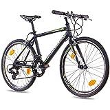 '24pulgadas unisex juvenil de carreras rueda bicicleta CHRISSON furiano con 14g Shimano A070Negro